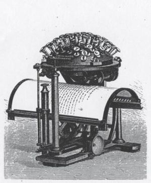 The Hansen Writing Ball, the first typewriter ...