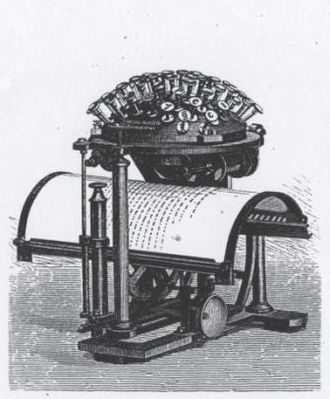 Hansen Writing Ball - Model from 1878