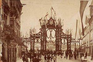 1895 visit of Emperor Franz Joseph to Zagreb - Image: Slavoluk Zagreb 1895