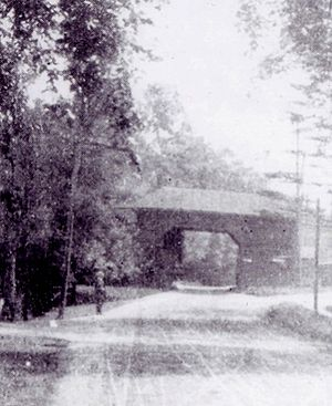 Slingerlands, New York - View of the tollgate in Slingerlands, this was demolished in 1908.