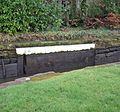 Slot for safety gate, Linlithgow Basin, Union Canal, Scotland.jpg