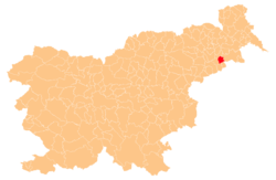 Location of the Municipality of Gorišnica in Slovenia