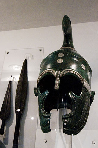 Dromichaetes - Thracian helmet with decorations made from bronze and silver. Dated mid-4th century BC.