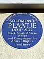 Solomon T. Plaatje 1876-1932 - Greater London Council Blue Plaque.jpg