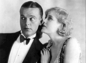 Something Always Happens (1928 film) - Scene from the film with Neil Hamilton and Esther Ralston