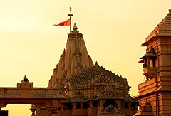 "Front view of the ""present"" Somnath Temple"