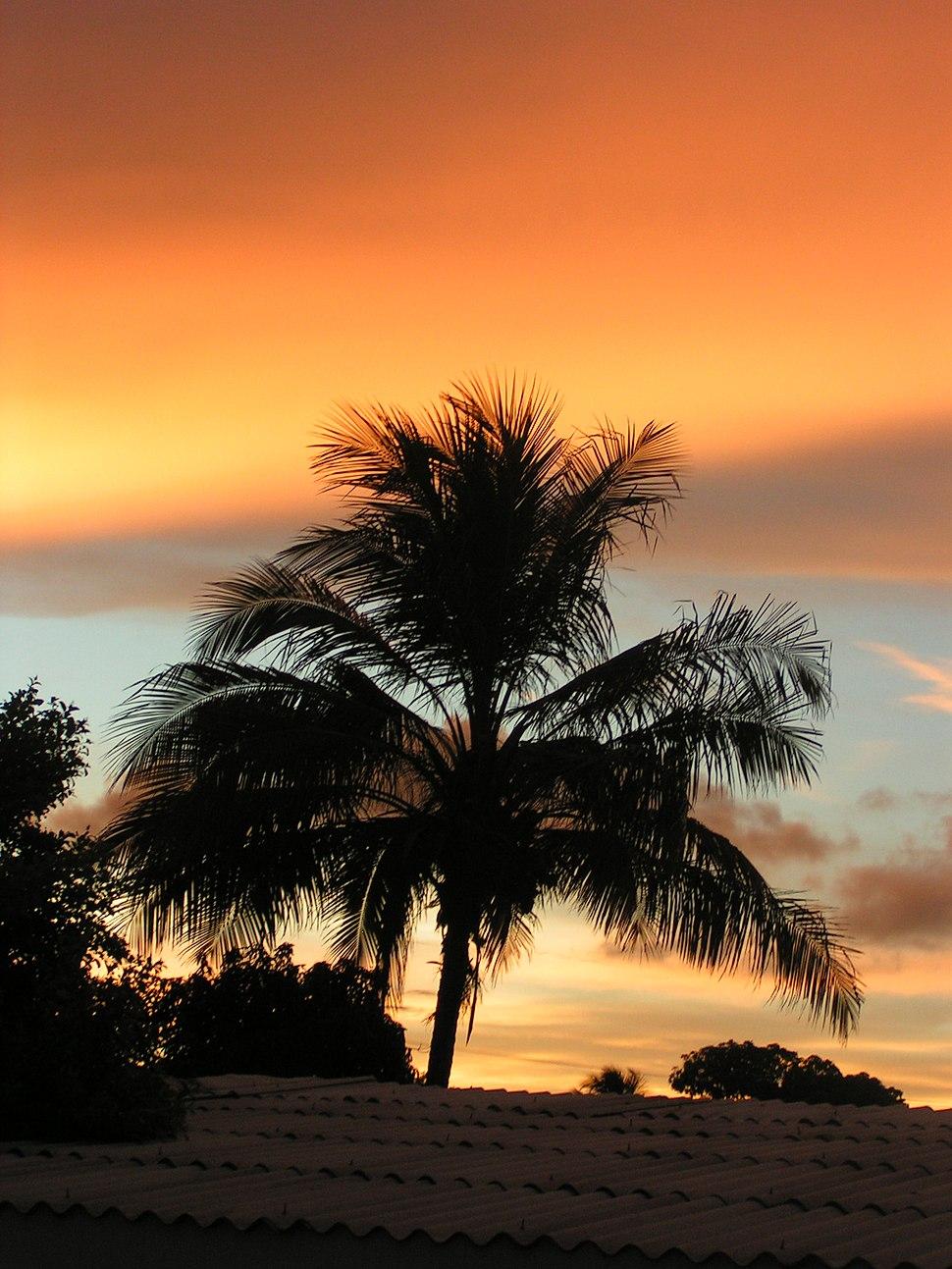 Sonnenuntergang in Santa Clara, Kuba