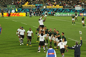 2011 Rugby World Cup - South Africa vs Fiji at Regional Stadium, Wellington. South Africa won 49–3