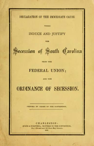 File:South Carolina Declaration and Ordinance of Secession.djvu