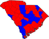 South Carolina Senatorial Election Results by county, 2008.png
