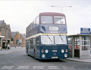 South Notts Bus Company - Northern Counties bodied Daimler Fleetline in Loughborough in 1989