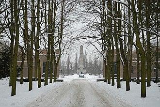 Soviet War Memorial (Schönholzer Heide) - The Soviet Cemetery Pankow is situated in the Schönholzer Heide (Winter 2010)