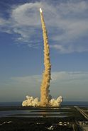 Space Shuttle Atlantis launching on mission STS-117