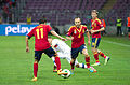 Spain - Chile - 10-09-2013 - Geneva - Pedro Rodriguez and Andres Iniesta.jpg