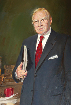 Jim Wright - Speaker Wright, 1991 Oil portrait by Marshall Bouldin III