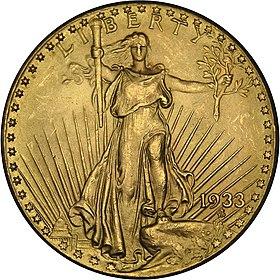 1933 double eagle obverse