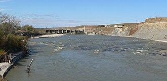 Niobrara River - Spencer Dam in 2010