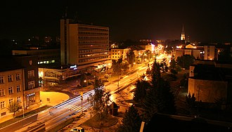 Spišská Nová Ves - Main street in Spišská Nová Ves.