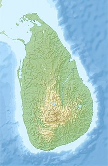 Map showing the location of Somawathiya National Park