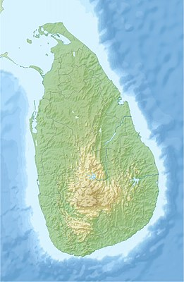Location map Sri Lanka