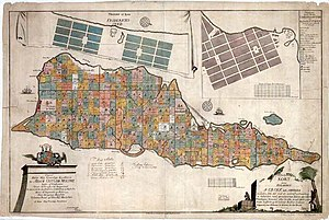 Saint Croix, U.S. Virgin Islands - A 1754 Danish map of the island
