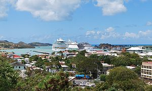 Antigua and Barbuda - Downtown St. John's on Antigua.