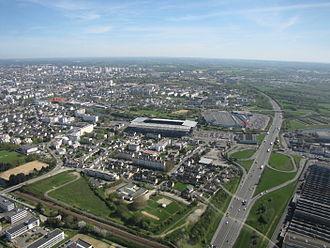 Rennes Métropole - Image: Stade RDL aerien 5