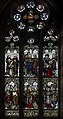 Stained glass window, St Swithin's church, Lincoln (15865149929).jpg