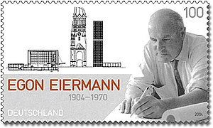 Egon Eiermann - Egon Eiermann on a German stamp