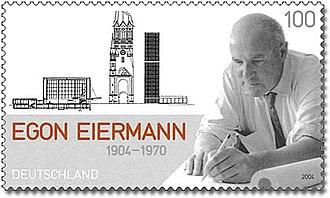 Egon Eiermann - Egon Eiermann on a German stamp