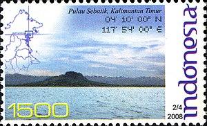 Sebatik Island - 2008 Indonesian stamp featuring Sebatik Island