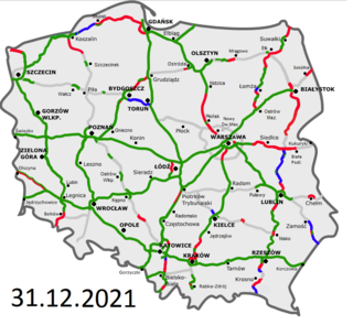 Highways in Poland Wikipedia list article