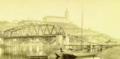 Starý most, výstavba, Mělník, 1888.png