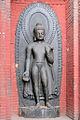 Statue de Dipankara (Temple de Swayambhunath) (8436396688).jpg