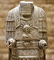 Statue of Assur Bel with Tyche from Hatra, Iraq, 2nd-3rd century CE. Iraq Museum, Baghdad.jpg