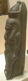 Schist statuette of Mut. Late Period, Dynasty XXVI, c. 664-525.