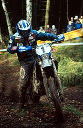 Former World Enduro Champion Stefan Merriman On A Yamaha