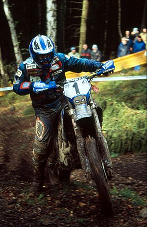 Enduro - Four-time world champion Stefan Merriman on a Yamaha