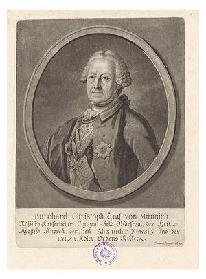 Burkhard Christoph von Münnich - Count Burkhard Christoph von Münnich