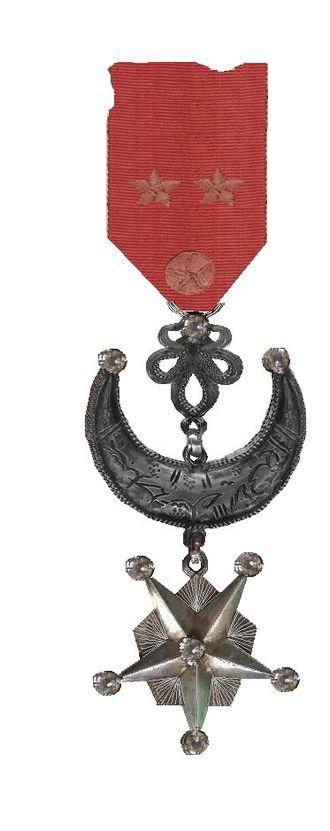 Star of Said Ali - Jewel with diamonds, around 1886