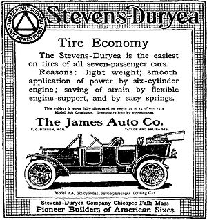Stevens-Duryea - A 1912 Stevens-Duryea Advertisement - Syracuse Herald, February 11, 1912