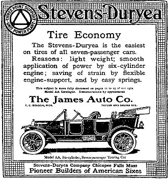Stevens-Duryea - A 1912 Stevens-Duryea Advertisement - Syracuse Herald, February 11, 1912