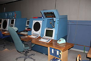 Command center - War Room at Stevns Fortress used in Denmark during the Cold War
