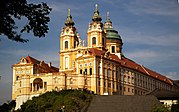 Melk Abbey, in Austria near the Wachau valley (architect Jakob Prandtauer)