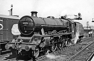 LMS Jubilee Class - 45578 United Provinces at Stockport in 1957.