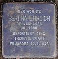 Stolperstein Arnstadt Thomas-Mann-Straße 15-Bertha Ehrlich.JPG