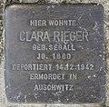 Stolperstein Bamberger Str 22 (Wilmd) Clara Rieger.jpg