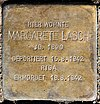Stolperstein Caspar-Theyß-Str 26 (Schmar) Margarete Lasch.jpg