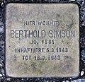 Stolperstein Schleswiger Ufer 5 (Hansa) Berthold Simson.jpg