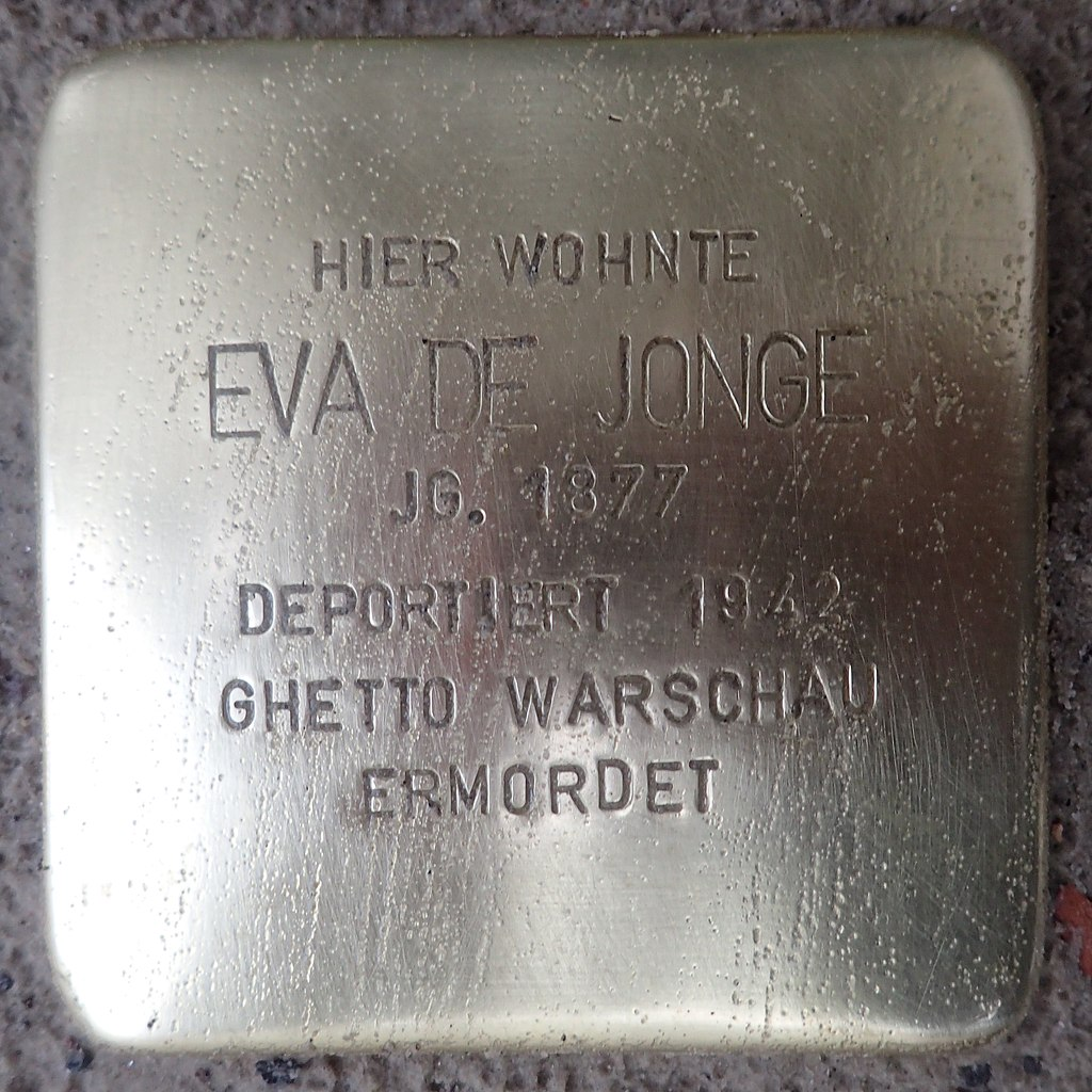 Stolperstein für Eva de Jonge
